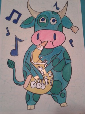 Saxophone Cow!